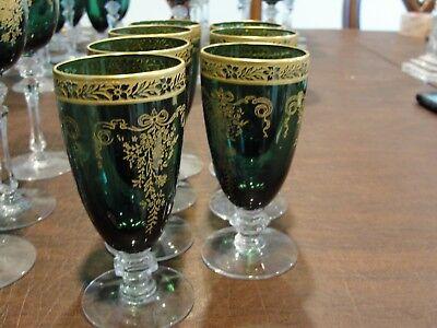 """FRANCISCAN MELROSE GREEN 7 JUICE GLASSES 4 3/4"""""""