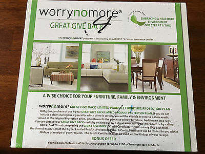 NEW SEALED WORRYNOMORE FURNITURE CLEANING & PROTECTION KIT NEW FABRIC UPHOLSTERY