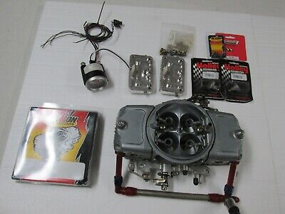 Holley Demon Racing Carburetor 850 E85 Alcohol or Gas with Fuel Rail Rebuild Kit