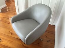Elegant Leather Occasional Chairs/Armchairs - Swivel - As New Panorama Mitcham Area Preview
