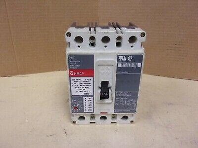 Westinghouse Cutler Hammer Hmcp150t4c Circuit Breaker 150a 3p 600vac 250vdc