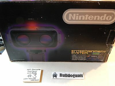Nintendo Nes Complete  Box Game System Non Deluxe Version Test Market Rob Robot