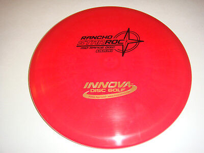 Frisbee Disc Golf Innova Rancho Star Roc Disk Stable Midrange Driver 167G Red