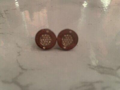 Michael Kors Stud Earings Silver And Diamanté