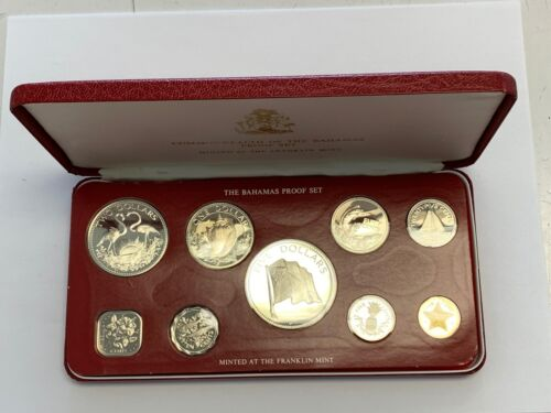 1976 Bahamas Uncirculated Sterling Silver 9 Coin Set With OGP.
