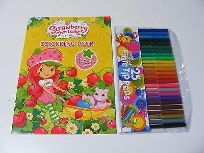 Kinder Strawberry Shortcake Färbung Malbuch + 25 Farbstifte