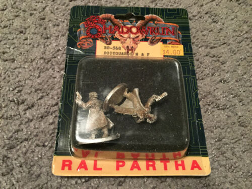 Opened Box Ral Partha Shadowrun Bodyguards M&F By R. Kerr 20-568