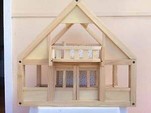 Wooden Dolls house with furniture and four people figurines Warrimoo Blue Mountains Preview