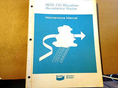 Bendix RDR-110 Radar System  Service Manual