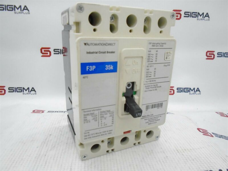 Automation Direct F3P-35k Molded Case Circuit Breaker 175A F3P-175