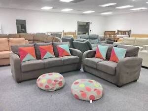 TODAY DELIVERY 3X2 COMFORTABLE MODERN CHOCOLATE Sofas set Belmont Belmont Area Preview