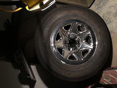 "2014 Silverado Chrome Rims and tires, 17"" X 8"" 6 Lug, 5.5 Bolt Pattern,"
