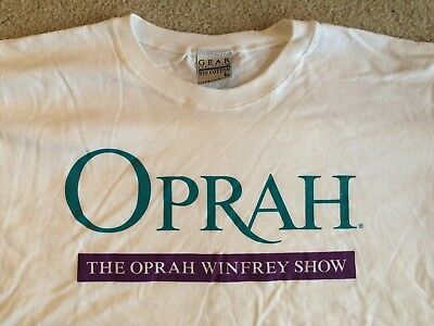 Oprah Winfrey Show T Shirt Shirt White Purple Green Television Tv Vintage New L