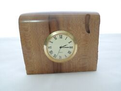 GZ Studio Flowering Dogwood Carved Desktop /Mantel Clock w/ New Battery Signed