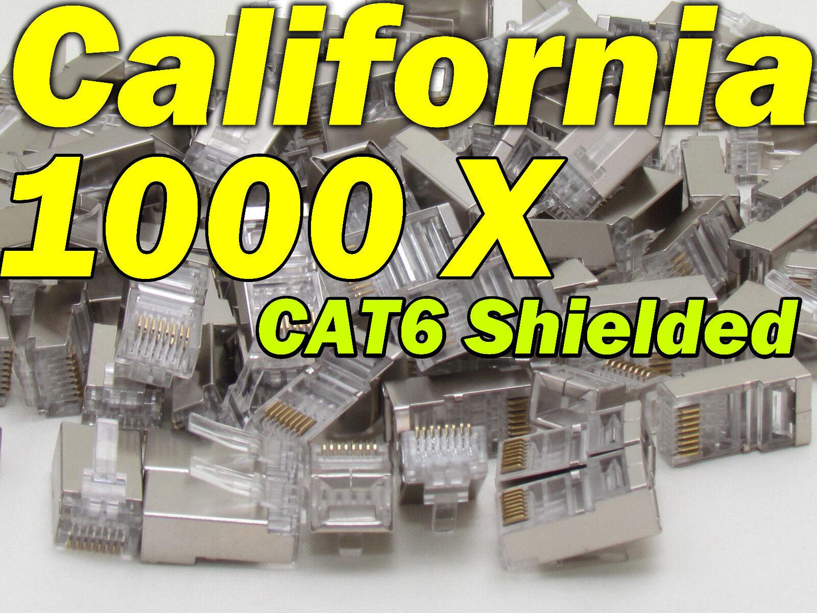 Nikon Lot 1000 Pcs Cat6 Shielded Rj45 8p8c Network Cable ...