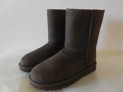 New Sz. 7 UGG Australia Classic Short BOOTS Brownstone Leather 1016559