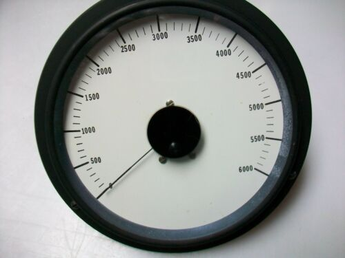 LARGE  ROUND 0-6V Dc. PANEL METER  0-6000 SCALE