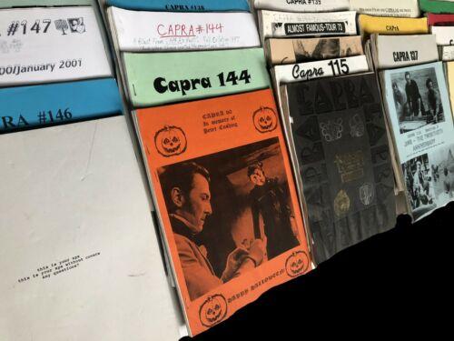 CAPRA Cinema Amateur PRess Association APA fanzine newsletter magazine film show