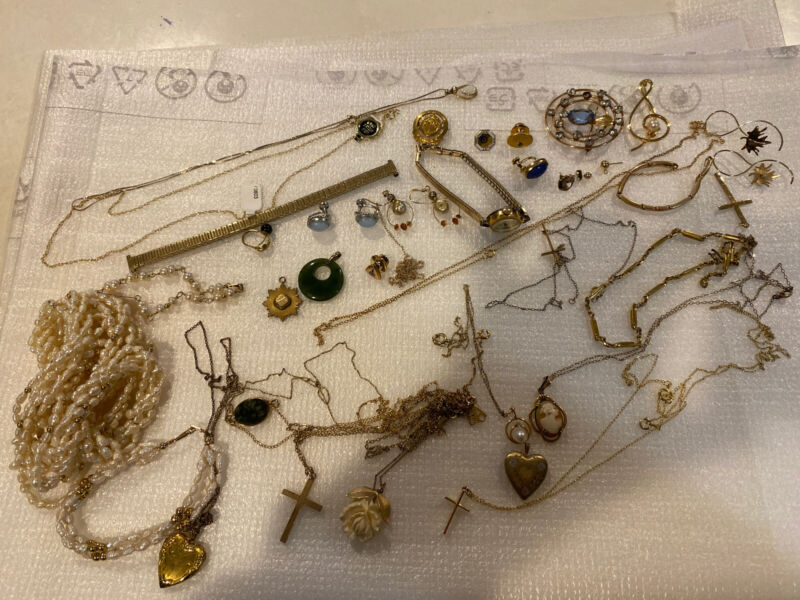 Vintage Gold Filled Lot 182g- Necklaces; Watch; Earrings; Mixed Lot For Scrap