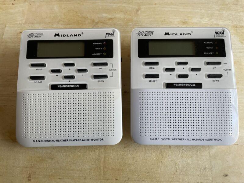 2 Midland WR-100 Weather Alert Radios Used Condition