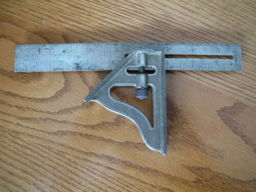 Vintage Stanley No. 21 Combination Square Tool Sweetheart Era Pat. 1-23-17
