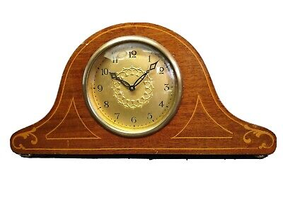 Vintage Napoleon Hat 8 Day Mantle Clock with Balance Wheel Escapement