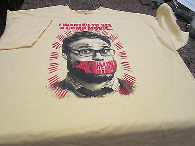 "Seth Rogen Tee Tempestuousness T-Shirt - Yellow - 2XL - ""The Interview"""