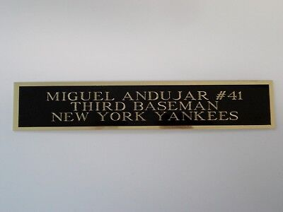 Miguel Andujar Yankees Autograph Nameplate For A Baseball Bat Or Jersey 1.5 X 8