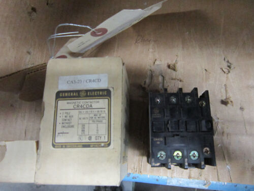 GE CR4CD CONTACTOR 120V 60Hz 110V 50Hz COIL N.O.S #70606502