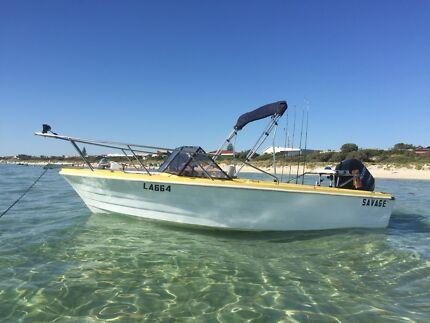 5.0m savage fishing boat