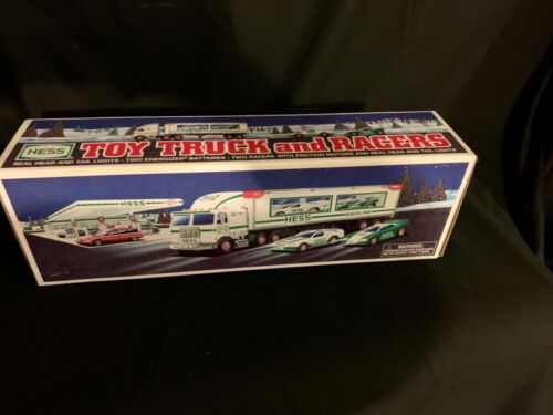 1997 Hess Toy Truck and Racers... New in box