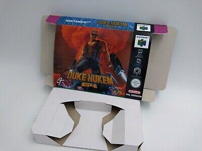 Duke Nukem 64 - reproduction box with insert - N64 - Pal or NTSC. HQ !