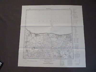 Landkarte Meßtischblatt 1086 Rauschen / Swetlogorsk, Ostpreußen Fischhausen 1937
