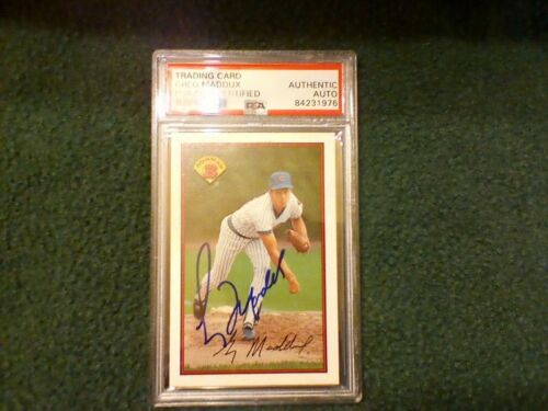 Greg Maddux PSA Authenticated Signed 1989 Bowman Card Cubs HOF