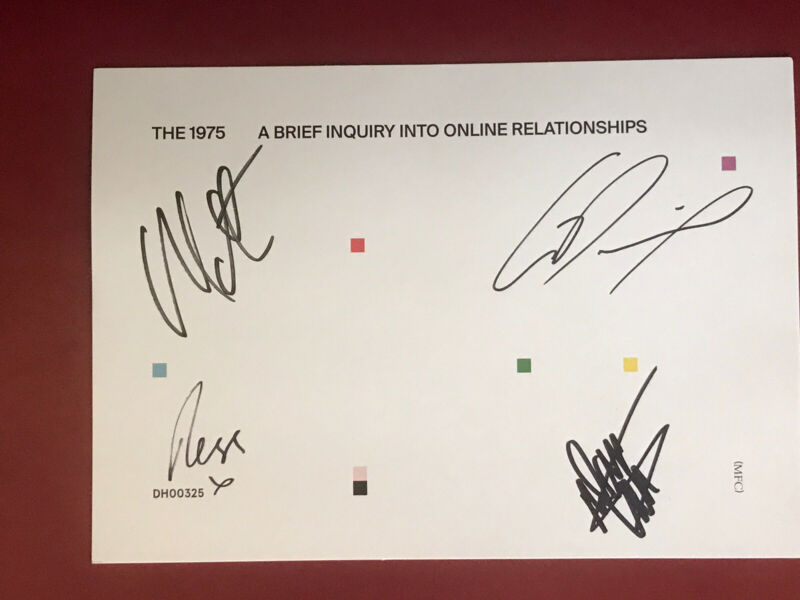 "Signed Autographed The 1975 ""A Brief Inquiry into Online Relationships Cassette"