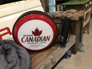 Molson Canadian Light up flanged sign