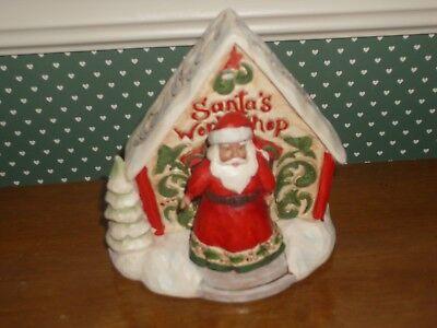 "Jim Shore Figur 4058737 ENESCO CHRISTMAS DEKORATION /""White Woodland Santa/"""