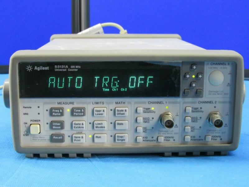Agilent / HP 53131A Universal Frequency Counter Passes Self Test