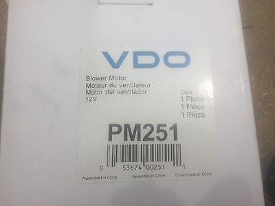 VDO New Blower Motor E150 Van E250 E350 Mark LTD Ford Mustang Escort tbird PM251