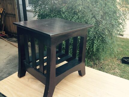 Dark brown side table Lane Cove West Lane Cove Area Preview