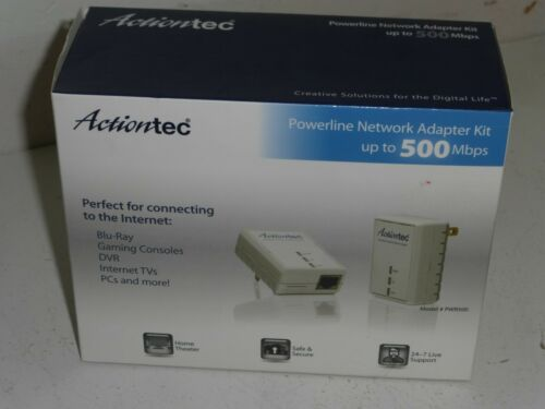 Actiontec Powerline Network Adapter Kit PWR511K01 Up to 500Mbps Gaming Internet