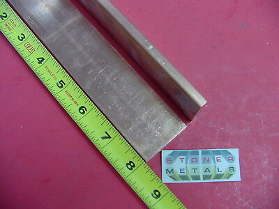 2 Pieces 14x 1-12 C110 Copper Bar 8 Long Solid Flat Bus Bar Stock H02