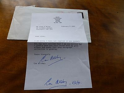 Autograph CONINGSBY ALLDAY - Chief Executive of BRITISH NUCLEAR FUELS Ltd 1980s