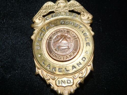 ANTIQUE LAKELAND INDIANA SPECIAL CONSTABLE POLICE  IN