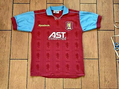 Football shirt soccer Aston Villa Villans Home 1995-1997 Reebok jersey Kid Youth image