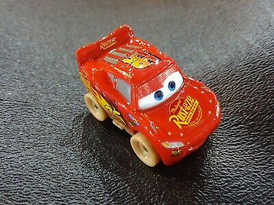 DISNEY PIXAR CARS DIE CAST MINI RACERS DIRT TRACK MCQUEEN BOX #50 FREE SHIP $15+