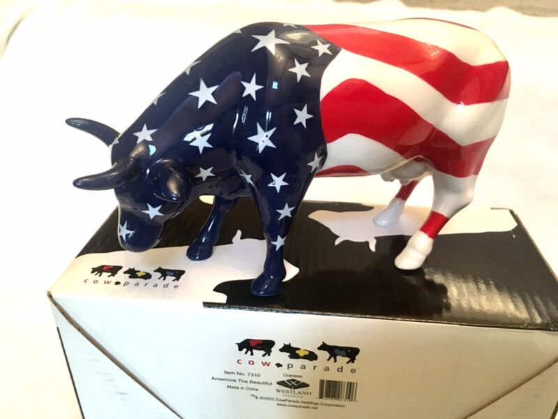 Americow The Beautiful #7310 Westland Cows On Parade 2002 w/ Box + Tag