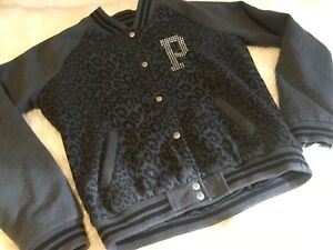 Pink by Victoria's Secret sequin leopard varsity jacket
