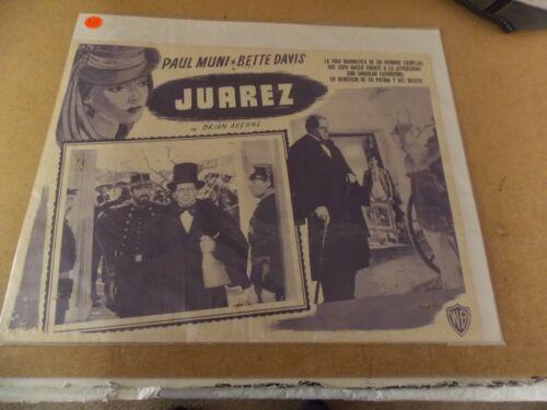 "JUAREZ(1939)PAUL MUNI ORIGINAL MEXICAN LOBBY CARD 12""BY16"" NICE!"