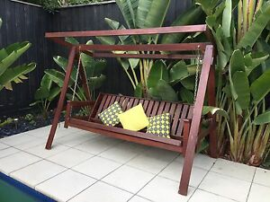 Beautiful wooden double day bed swing seat Blackburn Whitehorse Area Preview